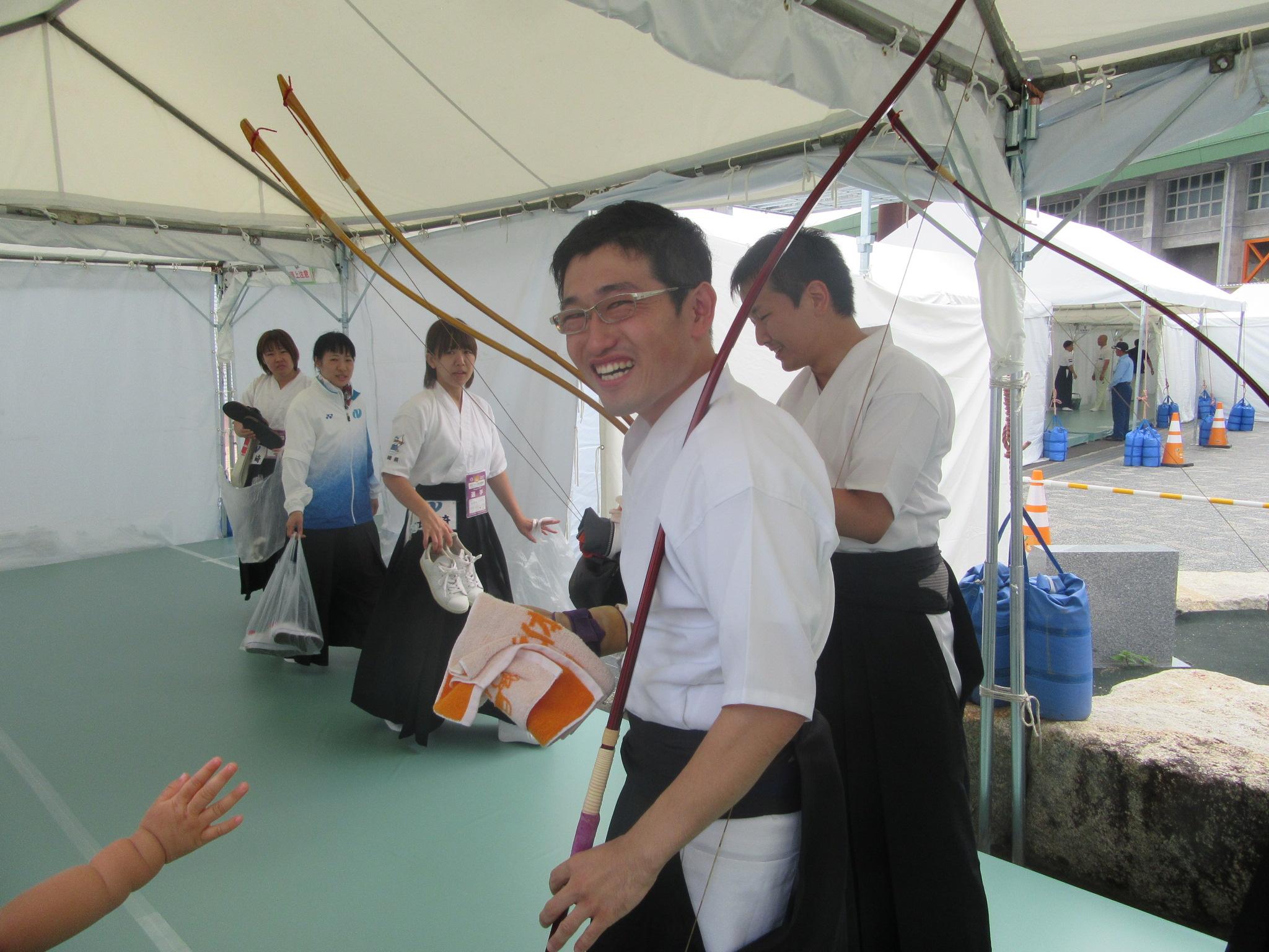 えひめ国体 弓道成年男子。