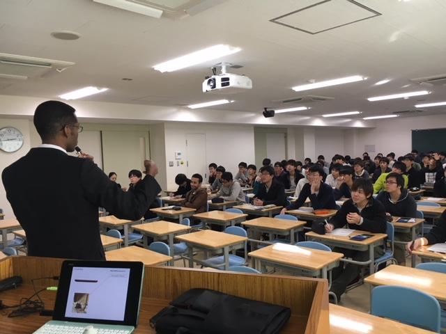 愛媛大学工学部機械工学科で講演